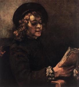 Titus leyendo