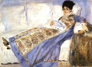 Madame Monet leyendo