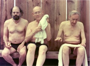 Allen Ginsberg, Philip Whalen y William S. Burroughs