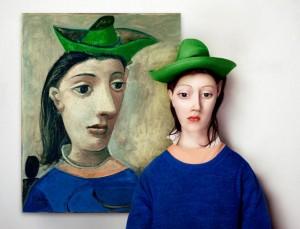 Mujer con sombrero verde de Pablo Picasso