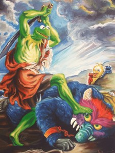 Kermit Slaying His Pet Monster