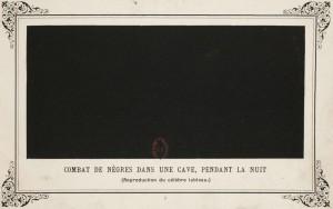 Combate de negros en una cueva, durante la noche