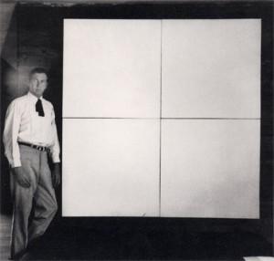 Robert Rauschenberg con Pintura Blanca