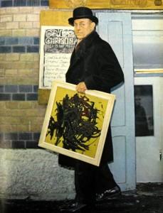 Bertil Eklöt y su cuadro