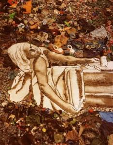 Retrato de Marat con basura